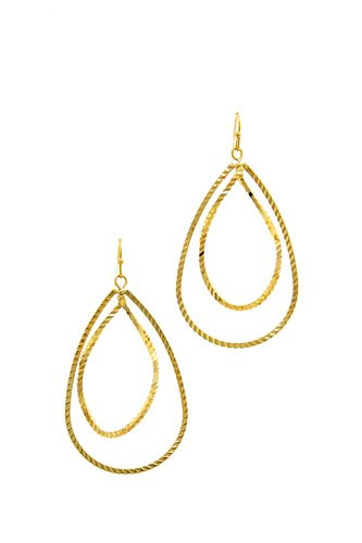 Modern Fashion Plated Brass Drop Earring