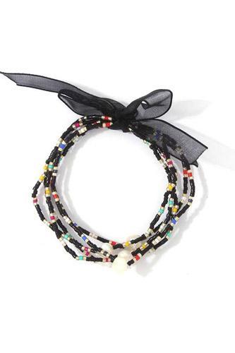 Dainty Beaded Stretch Bracelet Set