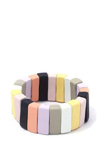 Rectangular Shape Block Stretch Ring
