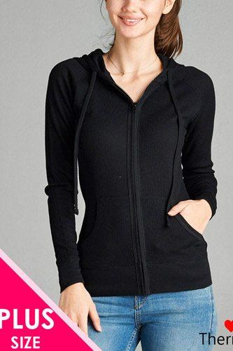 Long Sleeve Thermal Hoodie Jacket