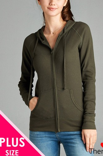 Long Sleeve Thermal Hoodie Jacket