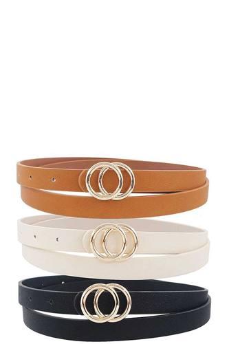 3 Pcs. Fashion Infinity Buckle Belt Set