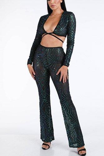 Glitter Pants Set