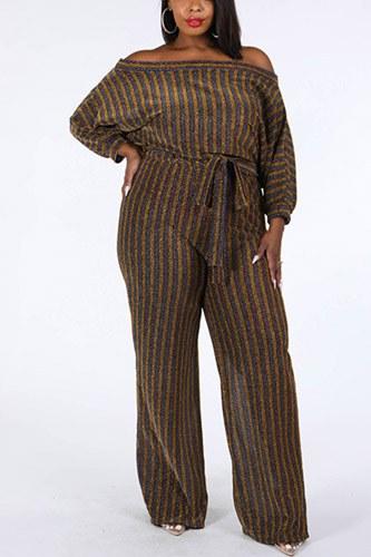 Metallic Stripe Jumpsuit