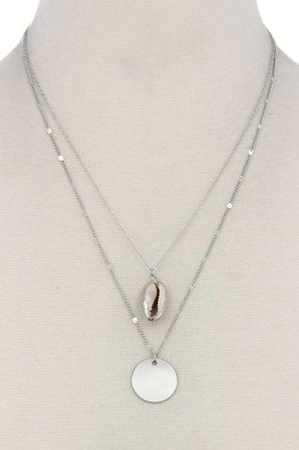 Shell Charm Layered Necklace