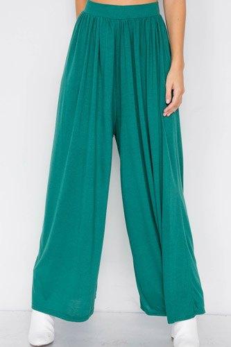 Wide Leg Maxi Hipster High Waist Pant