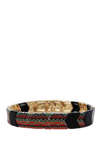 Trendy Ancient Pattern Stretchable Lucky Charm Bracelet