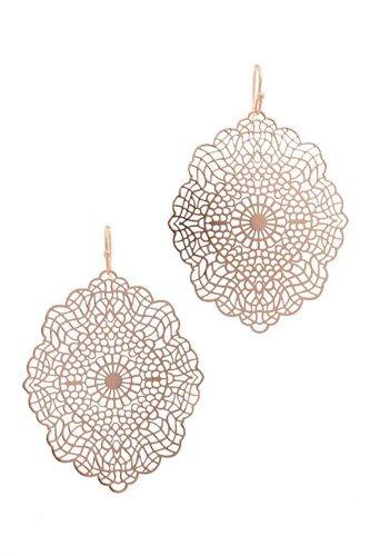 Filigree Moroccan Shape Drop Earring