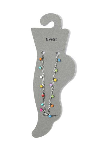 Multi Color Beaded Anklet