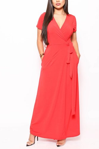 Simple, Sexy, And Chic Floor Length Wrap Dresses