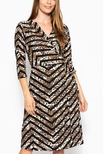 Print Midi, A-line Dress