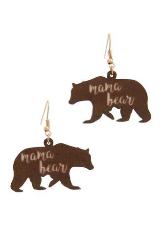 Mama Bear Drop Earring