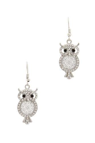 Owl Drop Earring