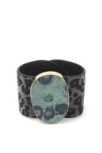 Animal Print Pattern Wrap Bracelet