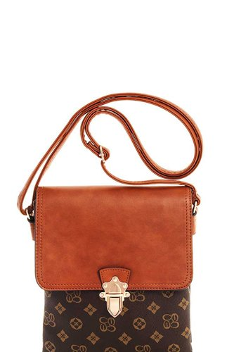 Alba Charisma Modern Pattern Crossbody Messenger Bag