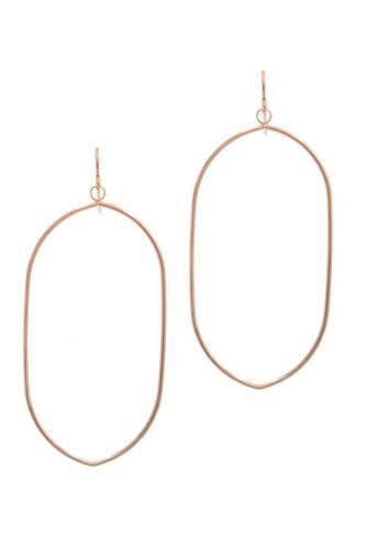 Long Oval Shape Drop Earring