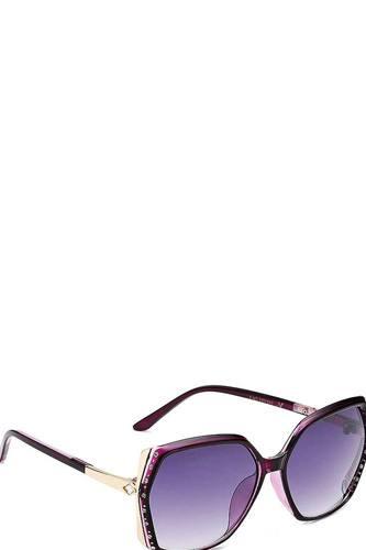 Stylish Rhinestone Accent Sunglasses