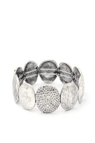 Oval Metal Stretch Bracelet