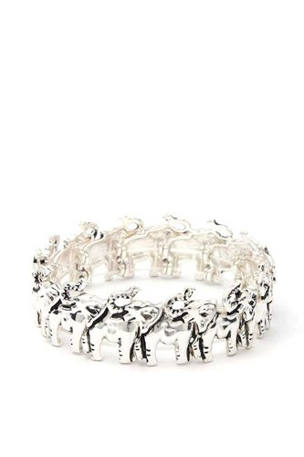 Elephant Metal Stretch Bracelet