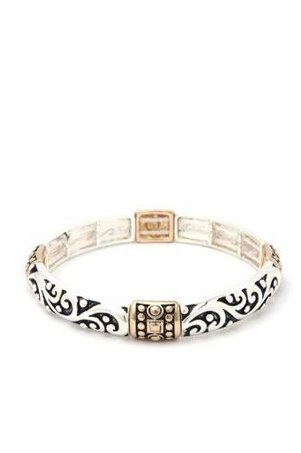 Filigree Metal Stretch Bracelet