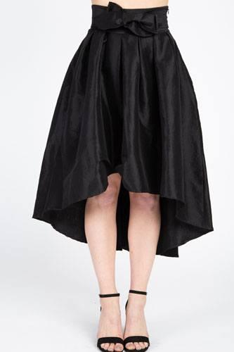 Taffeta High-low Skirt