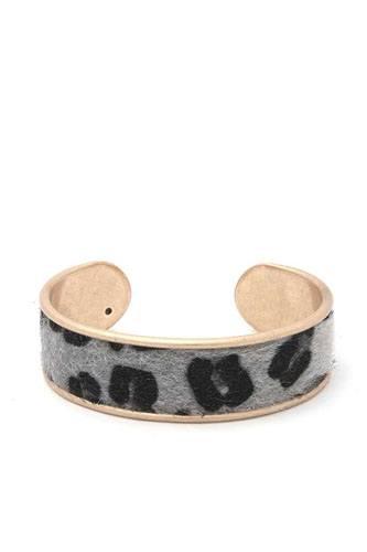 Animal Print Metal Cuff Bracelet