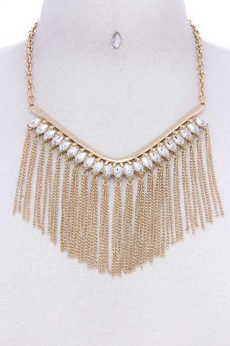 Fashion Multi Rhinestone Chic Necklace