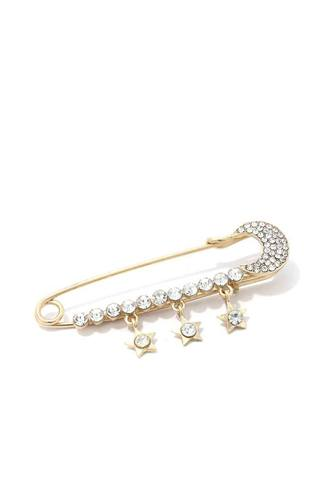Rhinestone Star Dangle Brooch