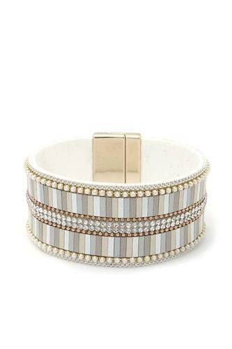 Rhinestone Block Magnetic Bracelet
