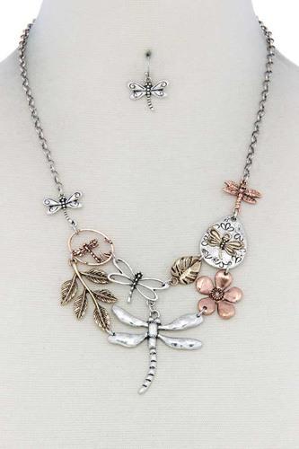Dragonfly Bib Necklace