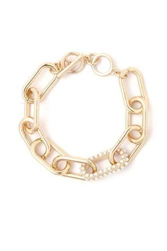 Pearl Oval Shape Metal Bracelet