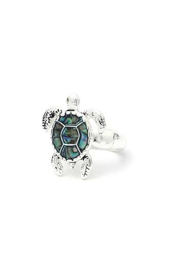 Abalone Sea Turtle Stretch Ring