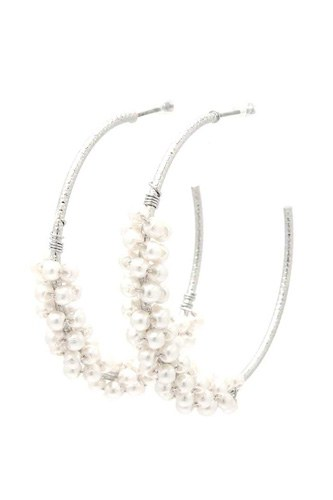 Beaded Open Circle Earring