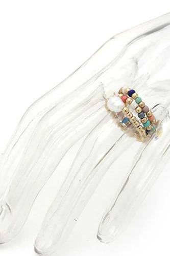 Pearl Beaded Stretch Ring