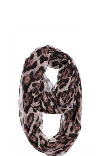 Chiffon Soft Leopard Infinity Scarf