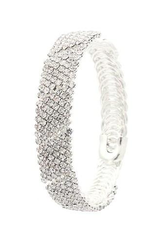 Flexible Rhinestone Bracelet
