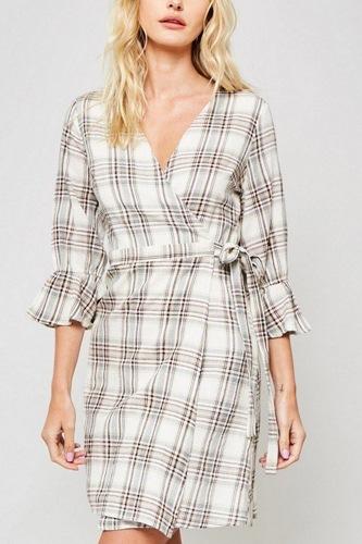 A Plaid Woven Dress