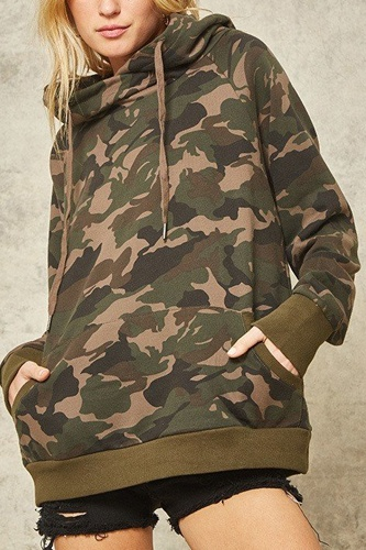A Camouflage Hoodie