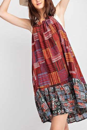 Cotton Voile Halter Dress