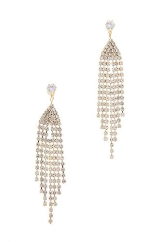 Rhinestone Drop Earring