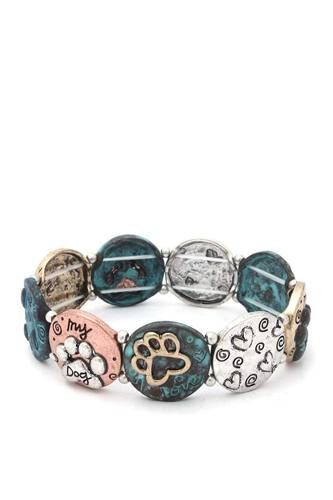 Two Tone Paw Stretch Bracelet