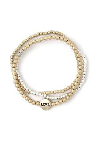 Love Beaded Stackable Bracelets