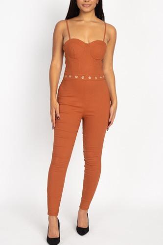 Waist Cutout Skinny Jumpsuit
