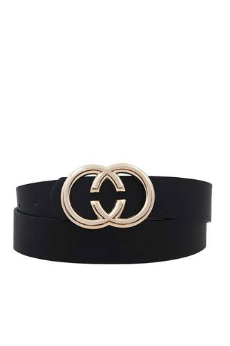Fashion Double Ring Buckle Belt
