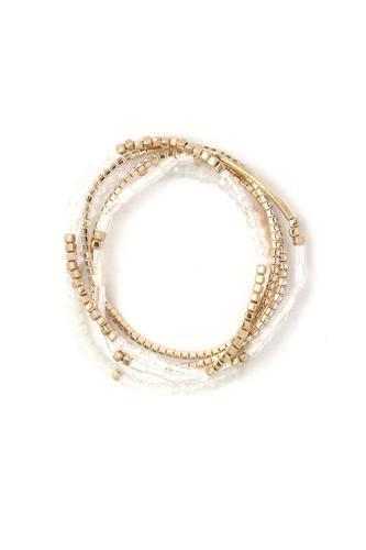 Fresh Water Pearl Stackable Bracelet Set