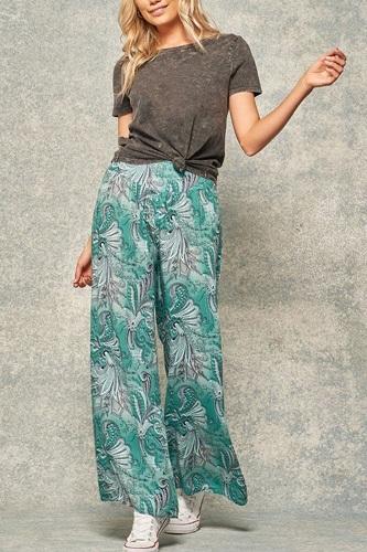 A Pair Of Paisley-print Pants