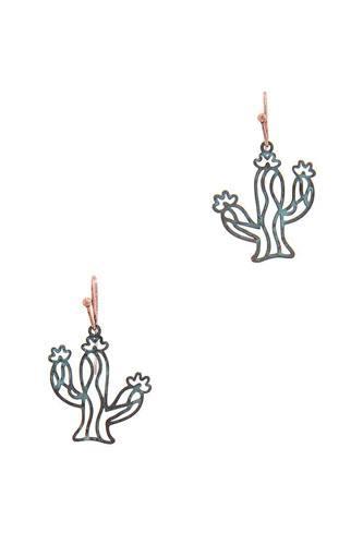 Cactus Drop Earring
