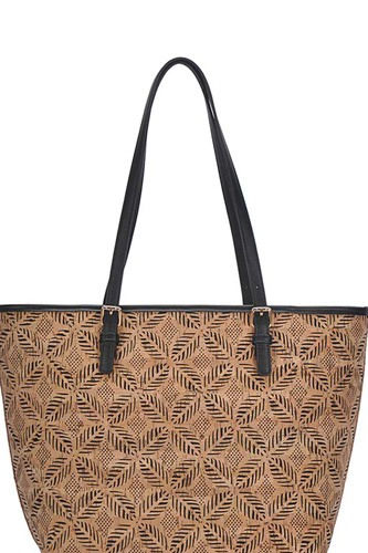 Chic Trendy Cork Textured Fashion Pattern Shopper Bag