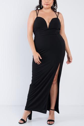 Plus Size Sexy Floor Length Dress