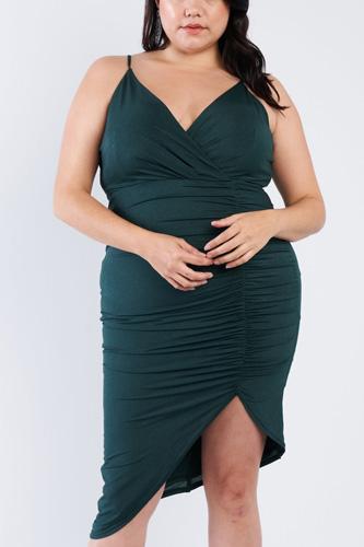 Plus Size A-symmetrical Scrunch Dress